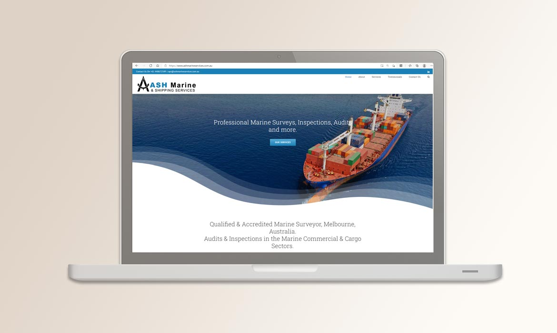 Tessella Website Development - Ash Marine Services