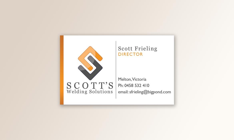 Tessella Design Solutions - Scott Welding Business Cards
