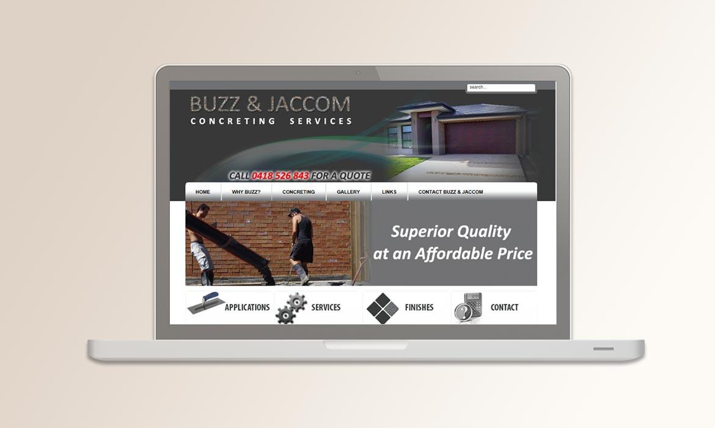 Tessella Website Development - Buzz Jaccom Concreting
