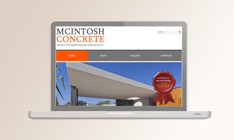Tessella Website Development - McIntosh Concrete